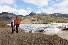 家庭在冰岛 库存图片