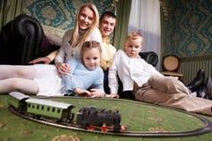 家庭在家 免版税图库摄影