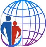 家庭地球商标 向量例证