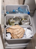 家庭垃圾离析 库存图片