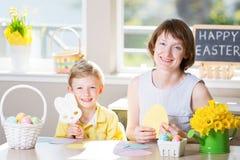 家庭复活节时间 免版税库存照片
