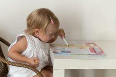 家庭女孩使用的一点 免版税库存照片