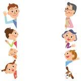 家庭姿势 免版税图库摄影
