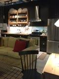 家庭娱乐室厨房家具在商店宜家的待售 库存照片