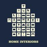 家庭家具,例证构思设计集合,传染媒介 图库摄影