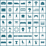 家庭家具,例证构思设计集合,传染媒介 免版税图库摄影