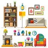家庭家具 内部装饰业 向量例证