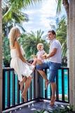 家庭度假在热带 图库摄影