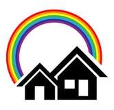 家庭徽标 免版税库存照片
