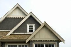 家庭房子屋顶房屋板壁灰泥 免版税图库摄影