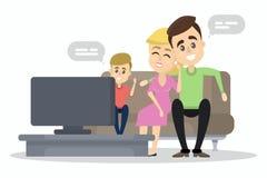 家庭手表电视 向量例证