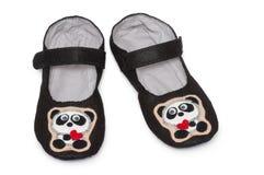 家庭拖鞋 熊猫图象 图库摄影