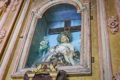 家庭教堂的内部 库存照片