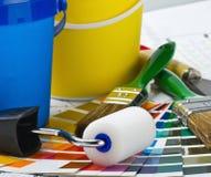家庭整修的工具和辅助部件 免版税库存图片