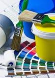家庭整修的辅助部件在一张结构上图画 免版税库存照片