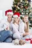 家庭新年度 库存图片