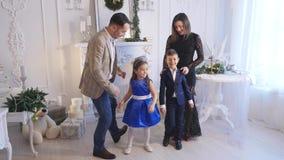 家庭新年照片写真闪光光 影视素材