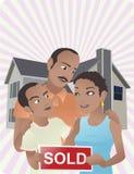 家庭新 免版税库存照片