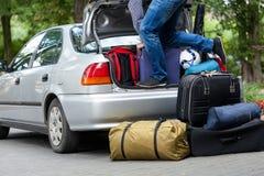 家庭旅行的准备 图库摄影