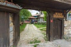 家庭旅馆在一个历史的房子里在Koprivshtitsa,保加利亚 图库摄影