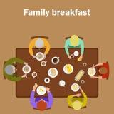 家庭早餐 向量例证