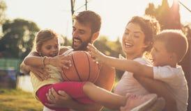 家庭是您能有的最巨大的祝福 库存照片