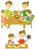 家庭晚餐烹调 库存照片