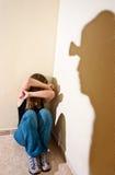 家庭暴力 免版税图库摄影
