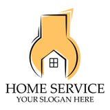家庭服务商标模板 向量例证