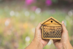 家庭木头 免版税图库摄影