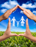 家庭标志在家 免版税库存图片
