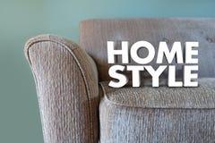 家庭样式长沙发家具室内设计装饰 向量例证