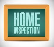 家庭检查委员会标志例证 库存图片