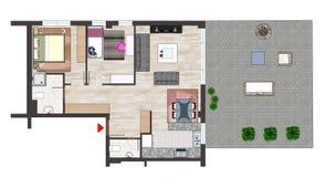 家庭楼面布置图 免版税库存图片