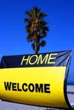 家庭欢迎 免版税图库摄影