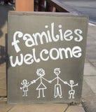 家庭欢迎 免版税库存图片