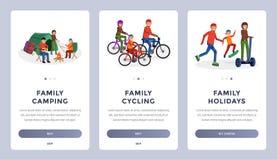 家庭活动平的集合 向量例证