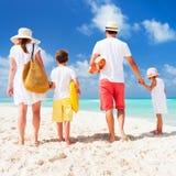 家庭海滩假期 库存照片