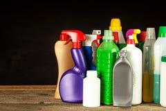 家庭清洁剂 洗涤剂 化学制品销售  清洗在房子里 图库摄影