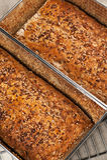 家庭焙制的面包 库存照片