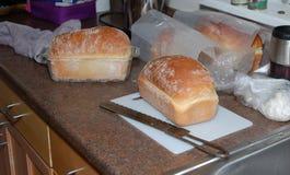 家庭焙制的面包 免版税库存图片