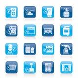 家庭瓦斯器具图标 免版税库存照片