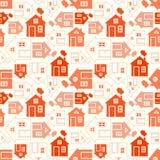家庭甜家庭房子剪影和概述 免版税库存图片