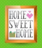 家庭甜家庭标志 免版税库存图片