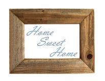 家庭甜家庭画框-被隔绝的青。 免版税库存照片