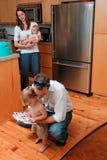 家庭生活 图库摄影