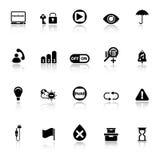 家庭用途机器标志象与在白色背景反射 库存照片