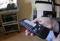 家庭电视audimeter 023 免版税库存图片