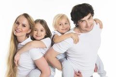家庭画象有孩子的 库存图片