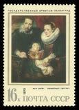 家庭画象范Dyck 图库摄影